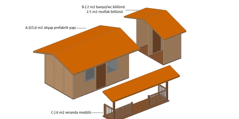 AEV  062 - Taşınabilir Ahşap Ev